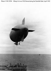 The U.S. Navy blimp L-8, a.k.a. The Ghost Blimp