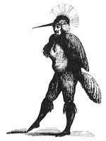 The demon Caim in human form from Collin de Plancy's Dictionnaire Infernal
