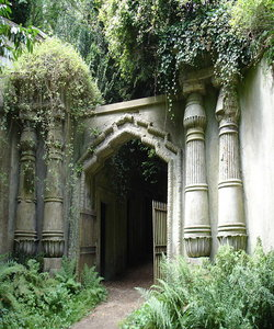 Egyptian Avenue Entrance at Highgate Cemetery
