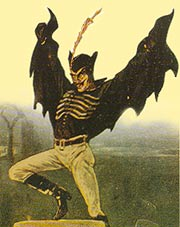 Spring Heeled Jack detail from an illustration circa 1890