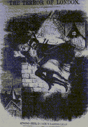 """Spring Heeled Jack as depicted by an anonymous artist in """"Penny Dreadful"""""""