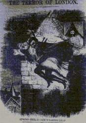 "Spring Heeled Jack as depicted by an anonymous artist in ""Penny Dreadful"""