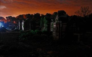 Pennhurst Haunted Asylum at Dawn
