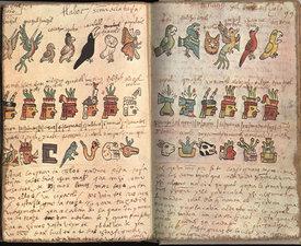 The Codex Tudela - Hieroglyphs of the Aztec Calendar